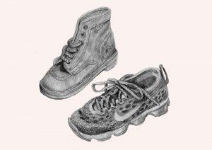 Produktbild av skor i blyerts