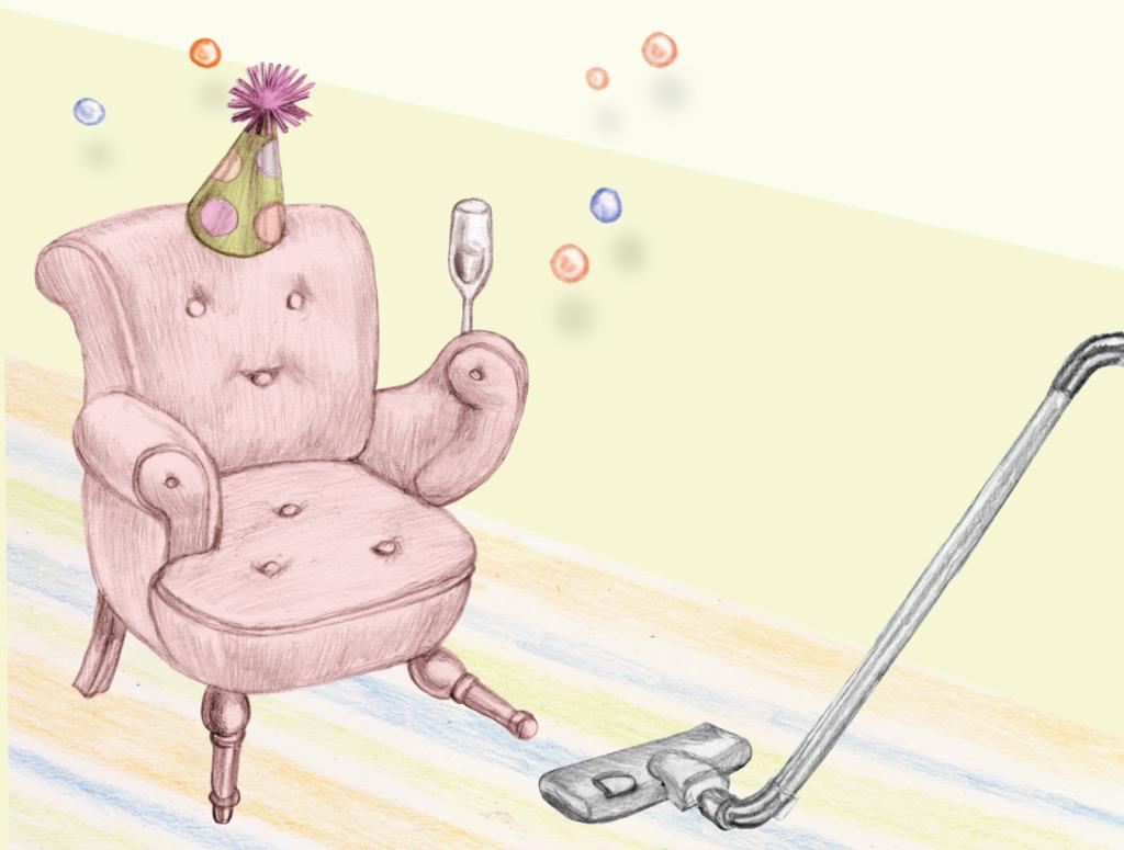Illustration till städfirman Qvickstep